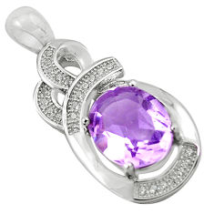 7.50cts natural purple amethyst topaz 925 sterling silver pendant jewelry c4389