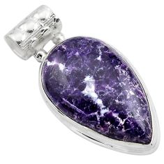 16.20cts natural purple lepidolite 925 sterling silver pendant jewelry p85521