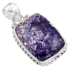 16.20cts natural purple lepidolite 925 sterling silver pendant jewelry p85523