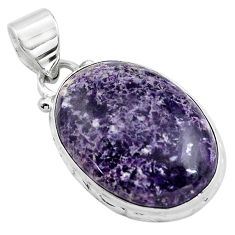 15.65cts natural purple lepidolite 925 sterling silver pendant jewelry p85525