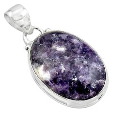15.65cts natural purple lepidolite 925 sterling silver pendant jewelry p85529