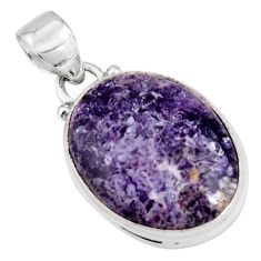14.23cts natural purple lepidolite 925 sterling silver pendant jewelry p90493