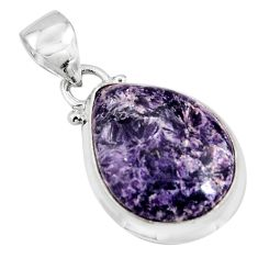 12.08cts natural purple lepidolite 925 sterling silver pendant jewelry p90495