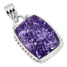 12.22cts natural purple lepidolite 925 sterling silver pendant jewelry p90497