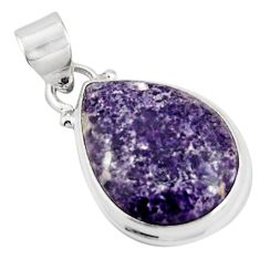 12.58cts natural purple lepidolite 925 sterling silver pendant jewelry p90498