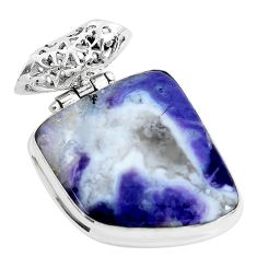 18.70cts natural purple opal fancy 925 sterling silver pendant jewelry d31109