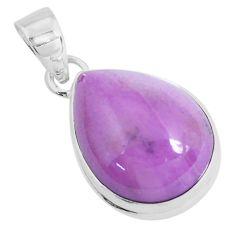 13.15cts natural purple phosphosiderite (hope stone) 925 silver pendant p49305