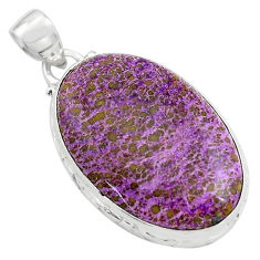 18.15cts natural purple purpurite 925 sterling silver pendant jewelry p85370