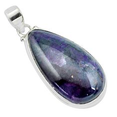 25.28cts natural purple sugilite 925 sterling silver pendant jewelry p53495