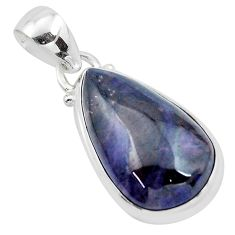 15.29cts natural purple sugilite 925 sterling silver pendant jewelry p53506