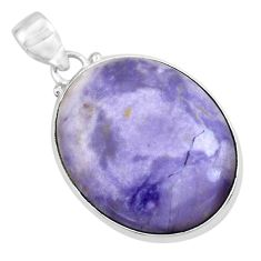 20.15cts natural purple tiffany stone 925 sterling silver pendant jewelry p41239