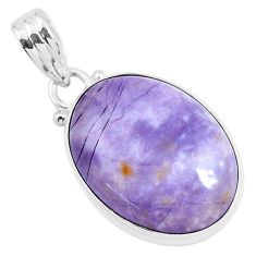 15.65cts natural purple tiffany stone 925 sterling silver pendant jewelry p46305