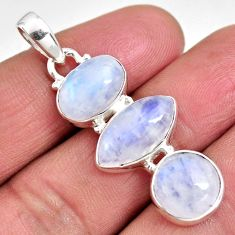 14.72cts natural rainbow moonstone 925 sterling silver pendant jewelry p92201