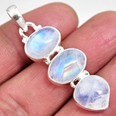 13.55cts natural rainbow moonstone 925 sterling silver pendant jewelry p92206