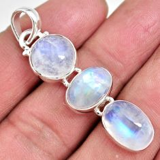 15.39cts natural rainbow moonstone 925 sterling silver pendant jewelry p92209