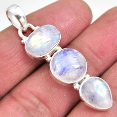 14.40cts natural rainbow moonstone 925 sterling silver pendant jewelry p92221