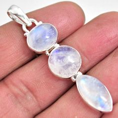 14.40cts natural rainbow moonstone 925 sterling silver pendant jewelry p92226