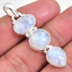 12.60cts natural rainbow moonstone 925 sterling silver pendant jewelry p92241