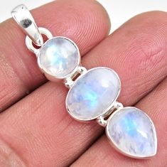 11.52cts natural rainbow moonstone 925 sterling silver pendant jewelry p92252