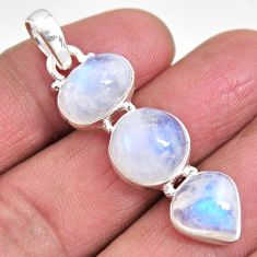 14.40cts natural rainbow moonstone 925 sterling silver pendant jewelry p92255