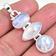 14.40cts natural rainbow moonstone 925 sterling silver pendant jewelry p92256