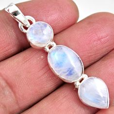 12.60cts natural rainbow moonstone 925 sterling silver pendant jewelry p92259