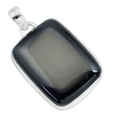 31.53cts natural rainbow obsidian eye 925 sterling silver pendant jewelry d31921
