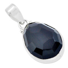 15.05cts natural rainbow obsidian eye 925 sterling silver pendant jewelry p57868