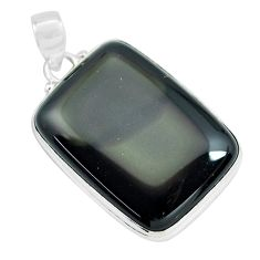 30.88cts natural rainbow obsidian eye 925 sterling silver pendant jewelry p64753