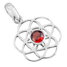 0.94cts natural red garnet 925 sterling silver pendant jewelry p62501