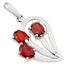 4.80cts natural red garnet 925 sterling silver pendant jewelry p82067