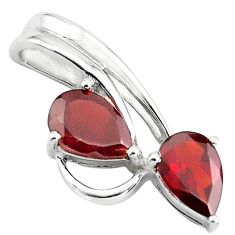 5.84cts natural red garnet 925 sterling silver pendant jewelry p82459