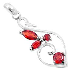 3.94cts natural red garnet 925 sterling silver pendant jewelry p83894