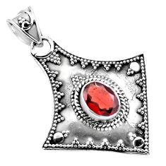 2.22cts natural red garnet 925 sterling silver pendant jewelry p86345