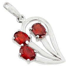 4.52cts natural red garnet oval shape 925 sterling silver pendant jewelry p82066