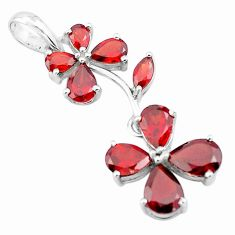 11.25cts natural red garnet pear 925 sterling silver pendant jewelry p73749