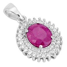 5.23cts natural red ruby topaz 925 sterling silver pendant jewelry a96404