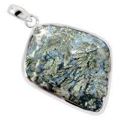 26.19cts natural white marcasite in quartz 925 sterling silver pendant p44047