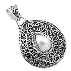 2.35cts natural white pearl 925 sterling silver pendant jewelry p86337