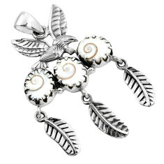 12.21cts natural white shiva eye 925 sterling silver dreamcatcher pendant p42006