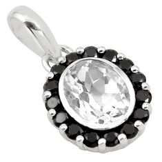 6.45cts natural white topaz topaz 925 sterling silver pendant jewelry p83782
