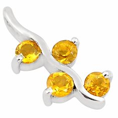 1.07cts natural yellow citrine 925 sterling silver pendant jewelry p82573