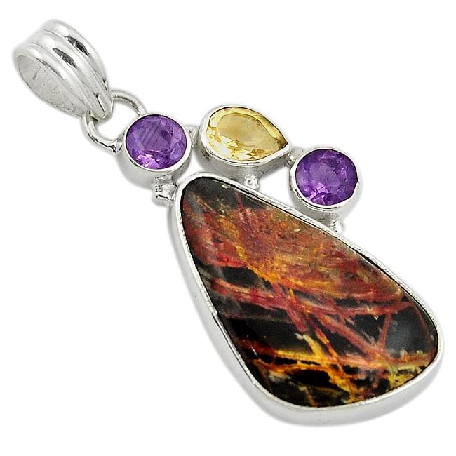 Natural Pilbara Jasper Gemstone Ring Solid 925 Sterling Silver Fashion Jewelry Size 6