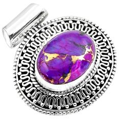 9.72cts purple copper turquoise 925 sterling silver pendant jewelry p86566