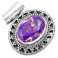 8.42cts purple copper turquoise 925 sterling silver pendant jewelry p86596