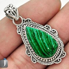 9.40cts SASSY GREEN CARDITA SHELL 925 STERLING SILVER PENDANT JEWELRY G24253