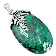 Clearance Sale- 50.68cts sonora sunrise (cuprite chrysocolla) 925 sterling silver pendant d31954