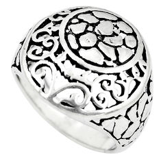 925 plain silver 4.89gms indonesian bali style solid ring size 6.5 c3626