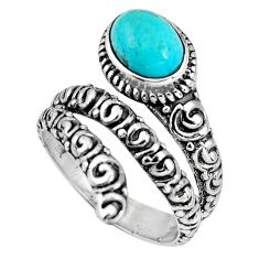 925 silver 2.11cts blue arizona mohave turquoise solitaire ring size 7 p89547