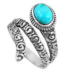 925 silver 2.35cts blue sleeping beauty turquoise solitaire ring size 8.5 p92073